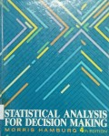 Statistical Analysis For Decision Making